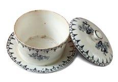 Vintage ceramic dish Stock Photos