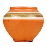 Vintage Ceramic Pot Isolated on White Background Stock Photography