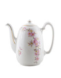 Vintage ceramic teapot, isolated. Royalty Free Stock Photography