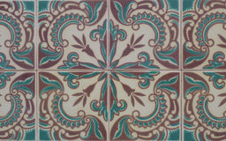 Vintage ceramic tile Stock Image