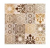 Vintage ceramic tiles. Wall decoration Stock Photos