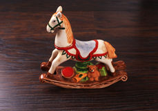 Vintage ceramic toy horse Stock Images