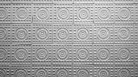 Vintage ceramic wall tiles pattern, black white royalty free stock photo
