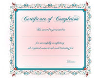 A vintage Certificate Stock Images