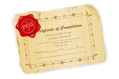 Vintage Certificate Stock Photo