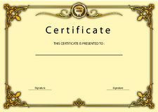 Vintage Certificate Award / Diploma Template Royalty Free Stock Photos