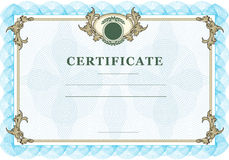 Vintage certificate Stock Image