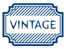 Vintage certificate rubber stamp Royalty Free Stock Photography