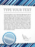 Vintage certificate with space for your text Royalty Free Stock Photos