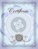 Vintage certificate template with detailed border in vector Stock Photography