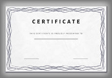 Vintage certificate template with detailed border in vector Royalty Free Stock Photography