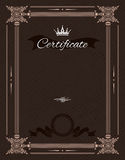Vintage certificate template with detailed border in vector Royalty Free Stock Photos