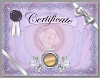 Vintage certificate template with detailed border in vector Royalty Free Stock Image