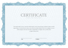 Vintage Certificate. Template diplomas, currency. Royalty Free Stock Photography