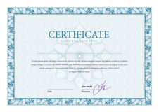 Vintage Certificate. Template diplomas, currency. Stock Photography