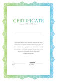 Vintage Certificate. Template diplomas, currency. Stock Photos