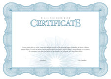 Vintage Certificate. Template diplomas, currency. Royalty Free Stock Image