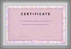 Vintage certificate template with spotted frame in vector Stock Image