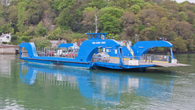 Vintage chain ferry operating in Cornwall UK Royalty Free Stock Image