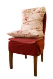 Vintage chair. Vintage red chair with cushions isolated on white Stock Image