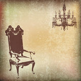 Vintage Chair Background Royalty Free Stock Photography