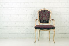 Vintage chair in empty room Royalty Free Stock Image