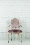 Vintage chair in empty room Royalty Free Stock Photo