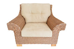 Vintage chair for furniture straw. Stock Photo
