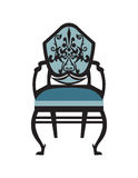 Vintage Chair furniture Vector. Rich carved ornaments furniture. Vector Victorian exquisite Style furniture. Vector sketch Stock Images