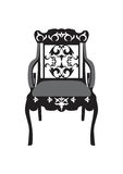 Vintage Chair furniture Vector. Rich carved ornaments furniture. Vector Victorian Style furniture. Vector sketch Stock Photos