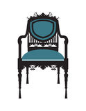 Vintage Chair furniture Vector. Rich carved ornaments furniture. Vector Victorian Style furniture. Vector sketch Royalty Free Stock Photography