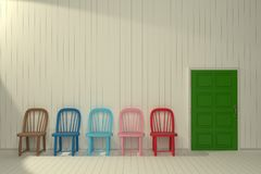Vintage Chair interior 3D model Stock Image