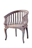 Vintage chair isolate on white Stock Photos