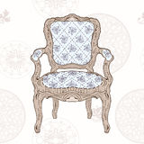 Vintage chair and radial pattern Stock Photos