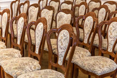 Vintage chairs background royalty free stock photo