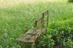 Vintage chairs in the grass Stock Photos