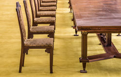 Vintage Chairs in a meeting Room Stock Photo
