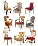 Vintage chairs over white Royalty Free Stock Image