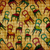 Vintage chairs pattern Royalty Free Stock Image