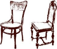 Vintage chairs Royalty Free Stock Image