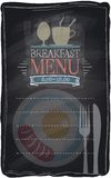 Vintage chalk breakfast menu. Royalty Free Stock Photo