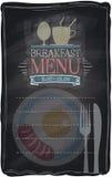 Vintage chalk breakfast menu. Royalty Free Stock Photo