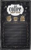 Vintage chalk coffee menu. Stock Photography
