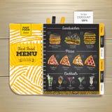 Vintage chalk drawing fast food menu. Sandwich sketch Stock Image