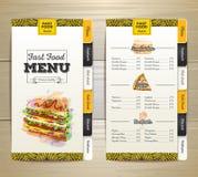 Vintage chalk drawing fast food menu. Sandwich sketch Royalty Free Stock Image