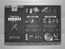 Vintage chalk drawing vegetarian food menu design. Royalty Free Stock Photo
