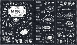 Vintage chalk drawn Menu vector design vector illustration