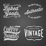 Vintage Chalk Labels Royalty Free Stock Photography