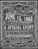 Vintage Chalk Poster Royalty Free Stock Image