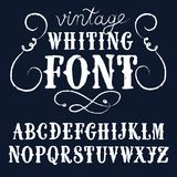 Vintage chalk vector font Stock Photo